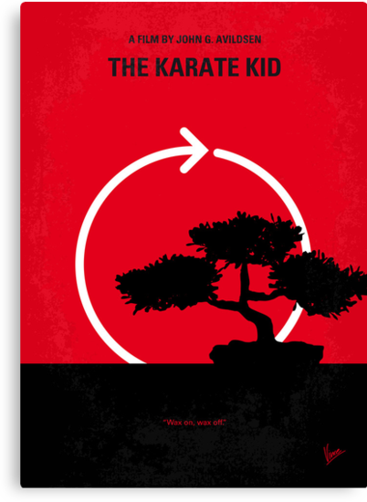No125 My KARATE KID minimal movie poster by Chungkong