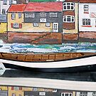 Model boat & painting by Woodie