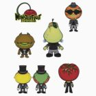 MonsterFruit Theater Small Sticker Sheet 1 by Allison Bair