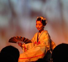 Traditional Japanese fan dance by MarianBendeth