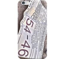 54-46 Was My Number iPhone Case/Skin