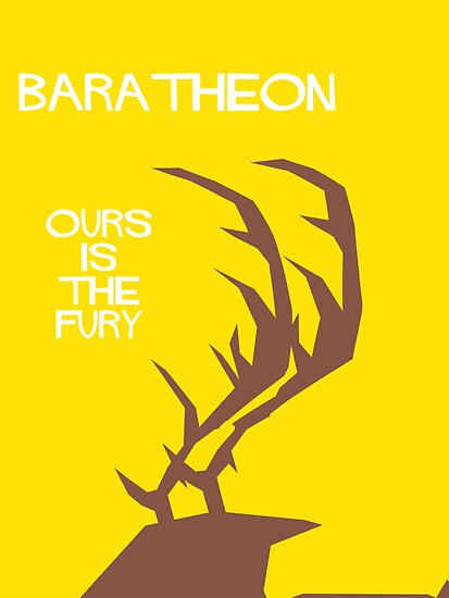 House Baratheon Minamalist Cutout by atlasspecter
