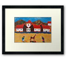 Mi Pueblo Framed Print