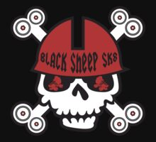 Black Sheep Roller Derby Scary Skulls by LucyDynamite