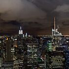New York skyline at night by Gary Eason