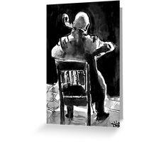 cello man Greeting Card