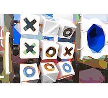 Noughts and Crosses Photographic Print