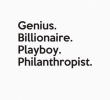 The Avengers Tony Stark Iron Man Genius Billionaire Playboy Philanthropist Black and White by Lindsay Marie