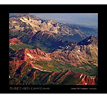 Colorful Colorado Rocky Mountains Planet Art Poster Photographic Print
