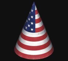 Vintage American Flag Cone by Nhan Ngo