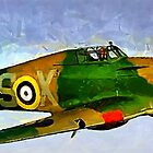 WW2 Hawker Hurricane 1935 by Dennis Melling