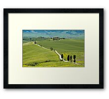 The Path from Pienza Framed Print