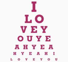 I love you - eye chart by KRDesign
