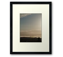 DAWN , NORTHAM MARINE LAYER CLOUDS Framed Print