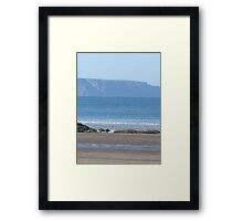 DISTANT CLOVELLY FROM WESTWARD HO! Framed Print
