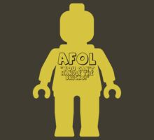 Minifig with 'AFOL You Can't Handle the Bricks' Slogan by Customize My Minifig by ChilleeW