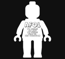 Minifig with AFOL 'To Build, or not to Build, that is the Question' Slogan by Customize My Minifig by ChilleeW