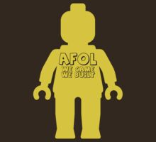 Minifig with 'AFOL We Came, We Built' Slogan by Customize My Minifig by ChilleeW