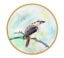 Kookaburra, Birds of Hepburn, 2011 by Liz Archer