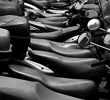 Mopeds in Milan by Gleb Zverinskiy