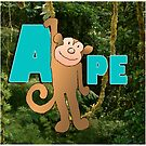 Alphabet ZOO - APE by Koekelijn