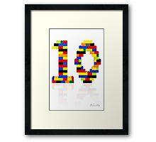 '10' Framed Print