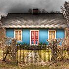Blue cottage by Elisabeth van Eyken