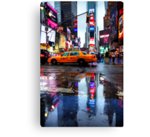 Times Square Puddle Canvas Print