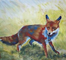 Fox Painting by MikeJory