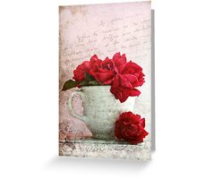 Rose Tea Greeting Card