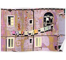 The Essence of Croatia - Pastel Houses of Dubrovnik Poster