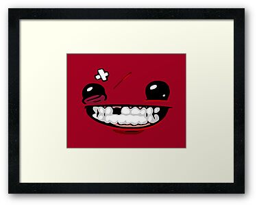 Super Meat Boy - Face by QuestionSleepZz