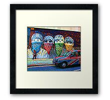 London street Framed Print
