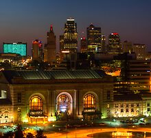 Kansas City night skyline by Jair65