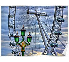 Lamps and the Wheel HDR Poster