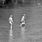 Girls Paddling  by Stan Owen
