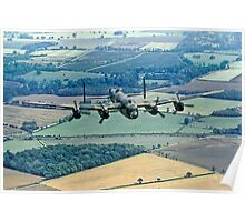 BBMF Lancaster PA474 over Lincolnshire Poster
