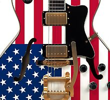 USA Flag Electric Guitar by CaseBase