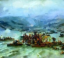 Russian army crosses the Danube at Zimnicea  15 June1877 by Dennis Melling