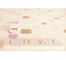 love...♥...double word score Photographic Print