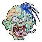 Zombie Head by eliwolff