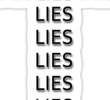 religious lies  Sticker