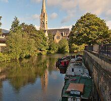 St John Evangelist Church on River Avon Bath by Steve Randall
