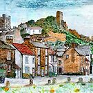 A digital painting of Richmond, Yorkshire, England by Dennis Melling