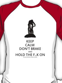 Keep Calm, Cross Country MTB , Mt Stromlo BLACK T-Shirt