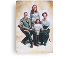 Edwardian Family Group Canvas Print