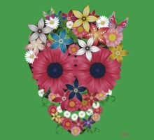 Skull Flowers by WAMTEES