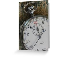 Stopwatch 7 Greeting Card