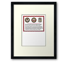 Domain seized by the US Department of Justice Framed Print