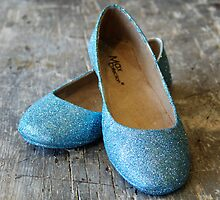 Blue Sparkle Shoes by Robert Baker